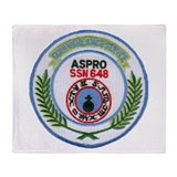 USS ASPRO Throw Blanket
