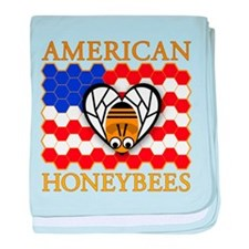 American Honeybees baby blanket