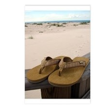 Flip Flops on Vacation Postcards (Package of 8)