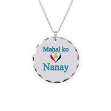 I Love Mom (2) (Filipino) Necklace