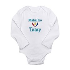 I Love Dad (2) (Filipino) Long Sleeve Infant Bodys