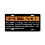 HEMI definition Aluminum License Plate