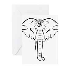 Ganesh Aum Abstract Greeting Cards (Pk of 20)