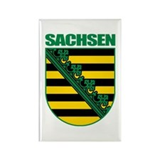 Sachsen (Saxony) COA Rectangle Magnet