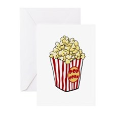 Cartoon Popcorn Bag Greeting Cards (Pk of 10)