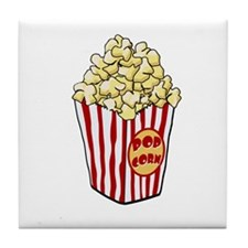 Cartoon Popcorn Bag Tile Coaster