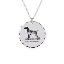 German Shorthaired Pointer Necklace Circle Charm