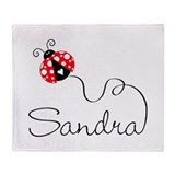 Ladybug Sandra Throw Blanket