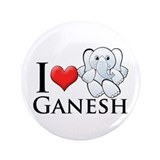 "I Heart Ganesh 3.5"" Button (100 pack)"