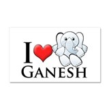 I Heart Ganesh Car Magnet 20 x 12
