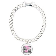 Fight Breast Cancer Charm Bracelet, One Charm