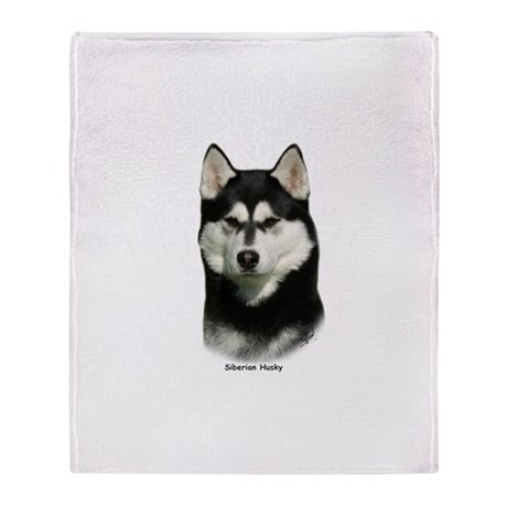 Siberian Husky 9P046D-46 Throw Blanket