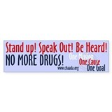 No More Drugs! Bumper Bumper Sticker