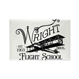 Wright Bros. Flight School Rectangle Magnet