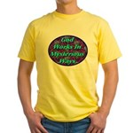 God Works In Mysterious Ways Yellow T-Shirt