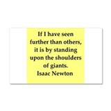 Sir Isaac Newton quotes Car Magnet 20 x 12