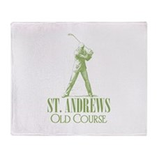 Vintage Golf (Old Course) Throw Blanket