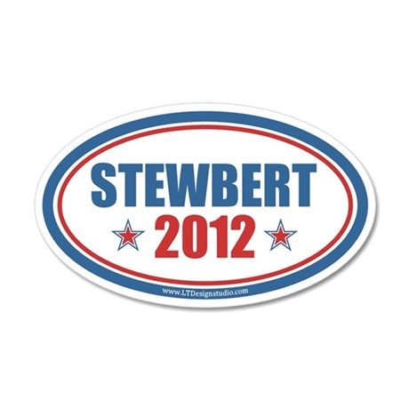 Stewbert 2012 22x14 Oval Wall Peel