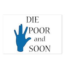 Die Poor and Soon (Humor Paro Postcards (Package o