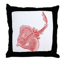 Vintage Stingray Throw Pillow