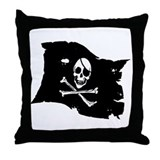 Pirate Flag Tattoo Throw Pillow