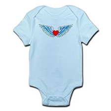 Winged Heart Tattoo Infant Bodysuit