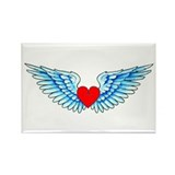 Winged Heart Tattoo Rectangle Magnet (10 pack)
