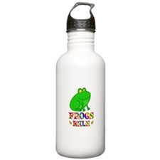 Fun Frogs Rule Water Bottle