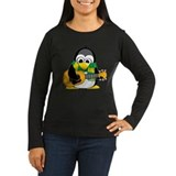 Acoustic Guitar Penguin Scarf T-Shirt