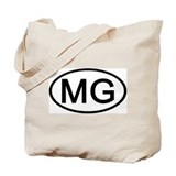 MG - Initial Oval Tote Bag