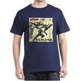 Attack of the FLUTE NINJAS Black T-Shirt