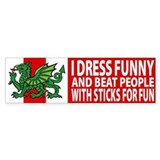 "Midrealm Vinyl ""I dress funny"" Bumper Bumper Sticker"