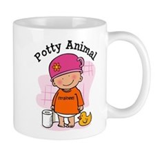Potty Animal Girl Mug