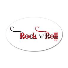 Rock 'n Roll Tattoo 22x14 Oval Wall Peel