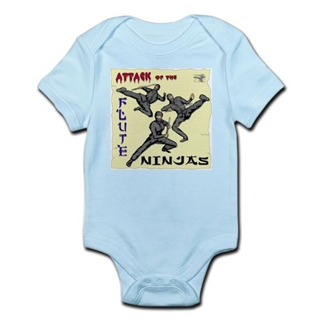 Attack of the FLUTE NINJAS Infant Creeper