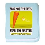 Fear The Batter baby blanket
