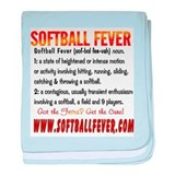 Meaning of Softball Fever baby blanket