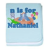 N is for Nathaniel baby blanket