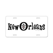 New Orleans Fleur Heart Aluminum License Plate
