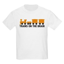 Trains On The Brain Kids T-Shirt