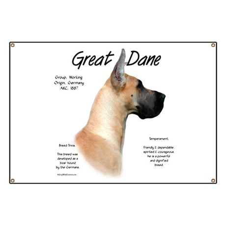 Fawn Great Dane Banner