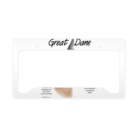 Fawn Great Dane License Plate Holder