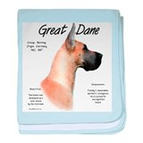 Fawn Great Dane baby blanket