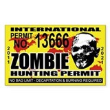 Zombie Hunting Permit Decal