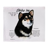 Shiba Inu (blk/tan) Throw Blanket