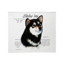 Shiba Inu (blk/tan) Throw Blanket