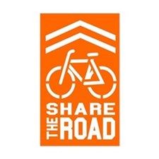 Share the Road Sticker (Orange)