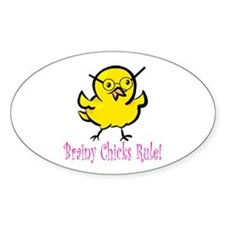 Brainy Chicks Decal