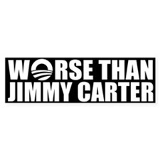 Worse Than Jimmy Carter Bumper Bumper Sticker