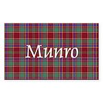 Tartan - Munro Sticker (Rectangle 50 pk)